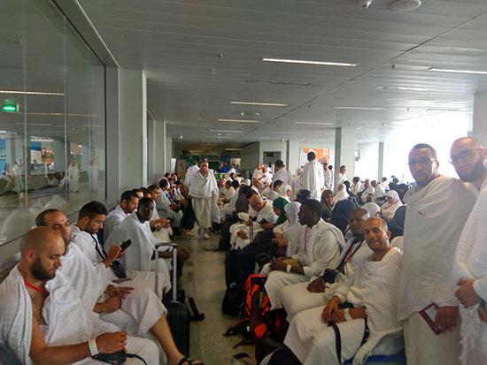 attente-aeroport-jeddah-hajj
