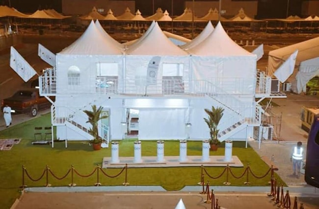 Hajj 2019 : Test des premières tentes superposées à Mina