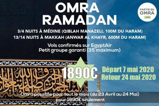 Omra Ramadan 2020 économique à 1890€